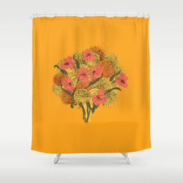 Sunshine Floral Bouquet Shower Curtain