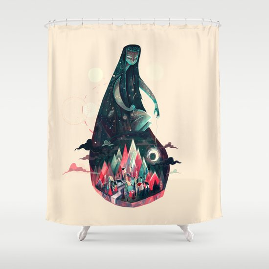 Night Time. Shower Curtain