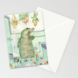 This is a mirror. You are a reptile applying lipstick. Stationery Cards