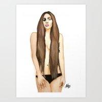 artpop Art Prints featuring ARTPOP by Alfonso Aranda