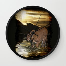 Night of the Cougar Wall Clock