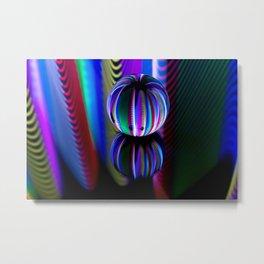 Floating crystal ball Metal Print
