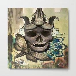 Skull-Dala Metal Print
