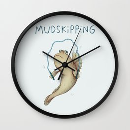 Mudskipping Wall Clock