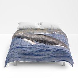 Humpback Whale Splashing Comforters