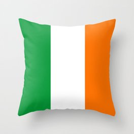 The National Flag Of Couthern Ireland Eire Throw Pillow