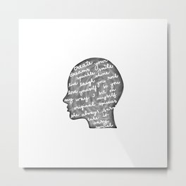 Positive words in my head Metal Print