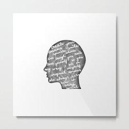 Positive words in my head Metal Print