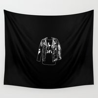 radio Wall Tapestries featuring Danse Farm Radio Logo Too by AR/KVB