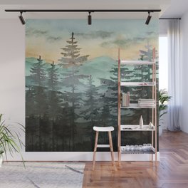 Pine Trees Wall Mural