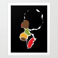 BLACK GIRL Art Print