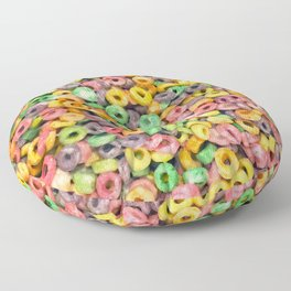 204 - Fruit loops and Marshmallows Floor Pillow