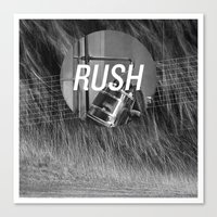 rush Canvas Prints featuring Rush by Santiago Merino