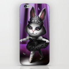 Black swan bunny iPhone & iPod Skin