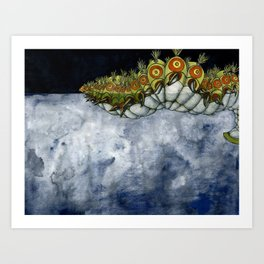 Swimming Caterpiller Art Print