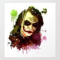 joker Art Prints featuring Joker by Sirenphotos