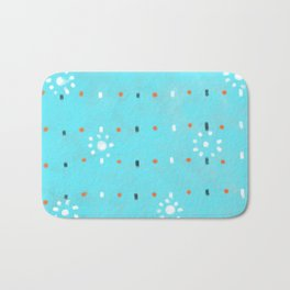summer sun blue sky Bath Mat