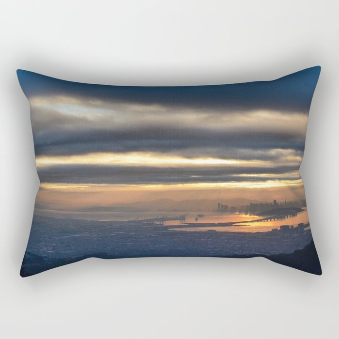 SF from afar Rectangular Pillow