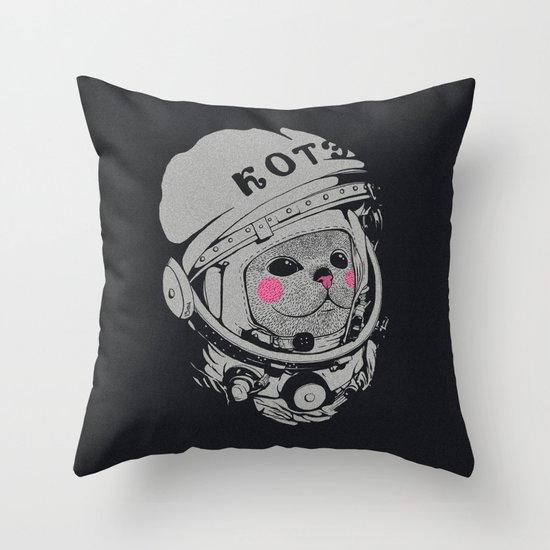 Spaceman cat Throw Pillow