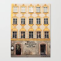 mozart Canvas Prints featuring Mozart Residence  by Laura Ruth