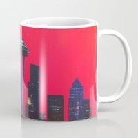 seattle Mugs featuring Seattle. by Daniel Montero