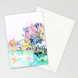 Paul Signac - The Pont Neuf, Paris - Digital Remastered Edition Stationery Cards