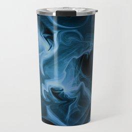 Blue Universe Fractal Art Travel Mug
