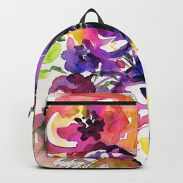 Floral Dance No. 5 by Kathy Morton Stanion Backpack