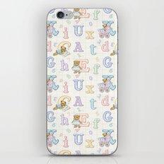 Teddy Bear Alphabet ABC's iPhone & iPod Skin
