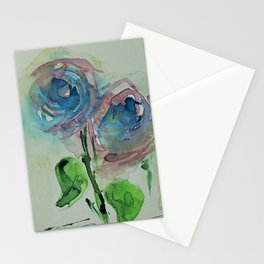 Blue Wild Flowers Stationery Cards