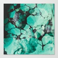 turquoise Canvas Prints featuring Turquoise  by Laura Ruth
