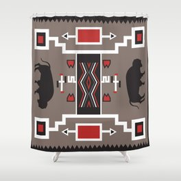 American Native Pattern No. 161 Shower Curtain