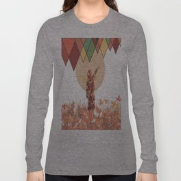 Flower girl and the moon Long Sleeve T-shirt
