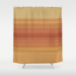 Orange Sunset Stripe Design Shower Curtain