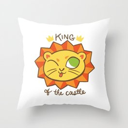 Baby Big Cats King of the Castle Lion Throw Pillow