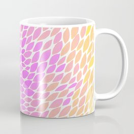 Ombre leaves - pink and yellow Coffee Mug