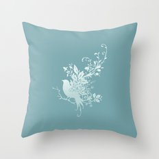 Flower Bird Throw Pillow