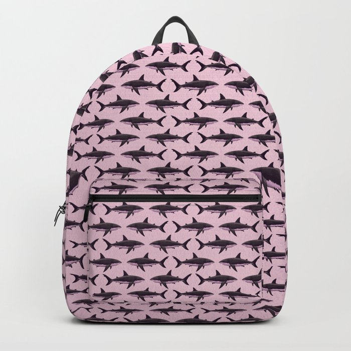 Pattern: Rose-Colored Sharkies ~ (Copyright 2015) Backpack