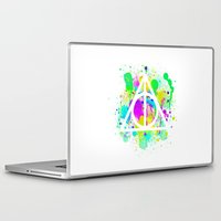deathly hallows Laptop & iPad Skins featuring The Deathly Hallows by Christina