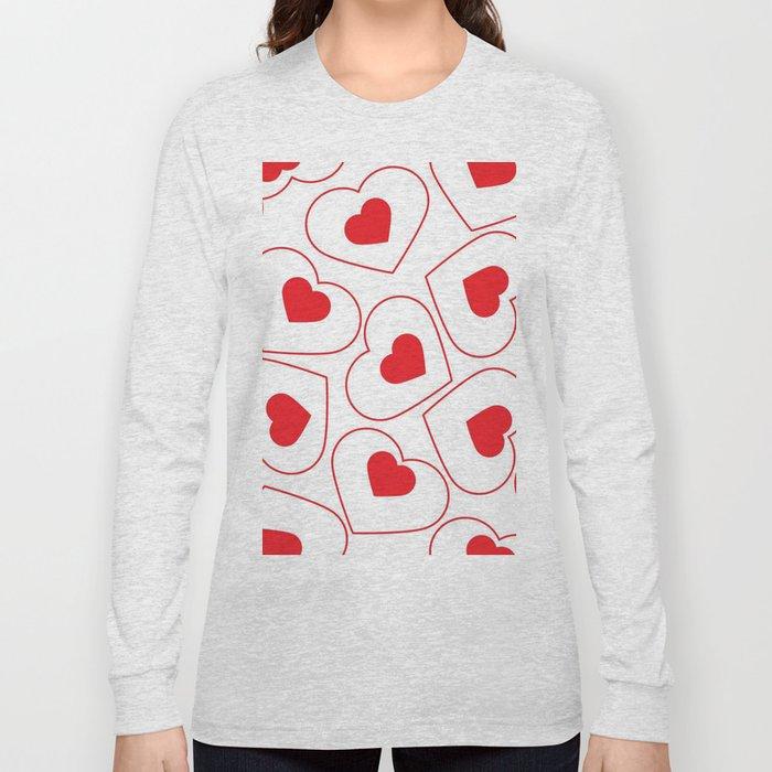 Heart Pattern Long Sleeve T-shirt