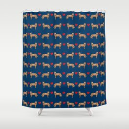 Australian Cattle Dog red heeler hearts love dog breed gifts cattle dogs Shower Curtain