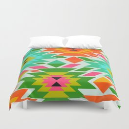 Ethnic with a tropical summer vibe Duvet Cover