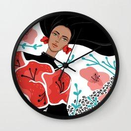Poppy Fashion Illo Wall Clock