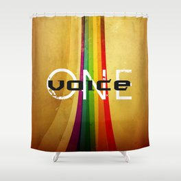 OneVoice Shower Curtain
