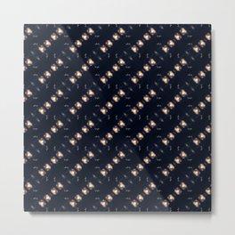 Dancing stars pattern Metal Print