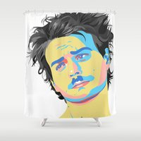 mac Shower Curtains featuring Mac Attack by Grace Teaney Art