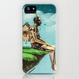 Man on the rock 5 iPhone Case