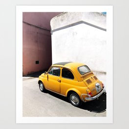 Yellow Tiny Car Art Print