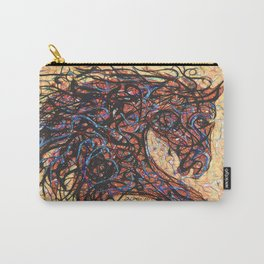 Abstract Horse Digital Ink Pollock Style Carry-All Pouch