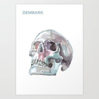 denmark Art Prints featuring Denmark by Tony Stella